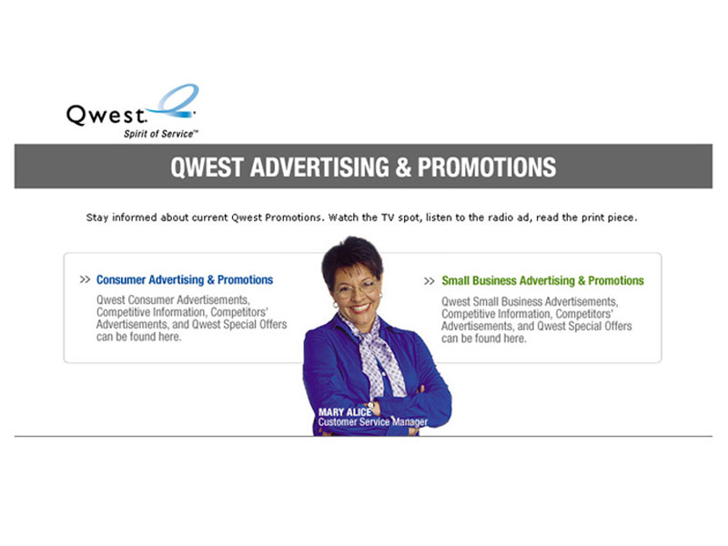 Qwest Advertising & Promotions Homepage